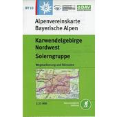 DAV Alpenvereinskarte Bayerische Alpen 10. Karwendelgebirge Nordwest, Soierngruppe 1 : 25 000  - Wanderkarte