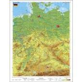 Deutschland, physisch 1 : 1 100 000. Wandkarte Kleinformat ohne Metallstäbe  - Poster