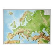 Reliefkarte Europa Gross 1 : 8.000.000 mit Aluminium Rahmen  - Karte