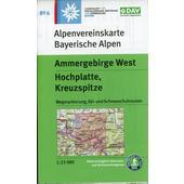 Ammergebirge West, Hochplatte, Kreuzspitz 1:25 000  - Wanderkarte
