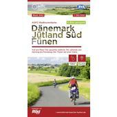 ADFC-Radtourenkarte DK2 Dänemark/Jütland Süd/ Fünen, 1:150.000, reiß- und wetterfest, GPS-Tracks Download, E-Bike geeignet  - Fahrradkarte