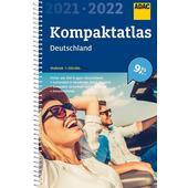 ADAC KOMPAKTATLAS DEUTSCHLAND 2021/2022 1:250 000  - Straßenkarte