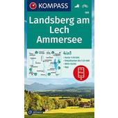 KOMPASS Wanderkarte Landsberg am Lech, Ammersee 1:50 000  - Wanderkarte