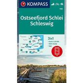KOMPASS Wanderkarte Ostseefjord Schlei, Schleswig 1:35 000  - Wanderkarte