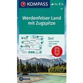 KOMPASS Wanderkarte Werdenfelser Land mit Zugspitze 1:25 000  - Wanderkarte
