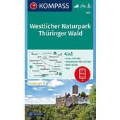 KOMPASS Wanderkarte Westlicher Naturpark Thüringer Wald 1:50 000  - Wanderkarte