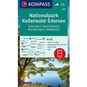 KOMPASS Wanderkarte Nationalpark Kellerwald-Edersee, Naturpark Habichtswald, Wanderregion Medebach 1:50 000  - Wanderkarte