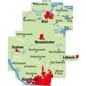 ADFC-Regionalkarte Hamburg/Neumünster/Kiel 1:75.000, reiß- und wetterfest, mit GPS-Tracks-Download  -