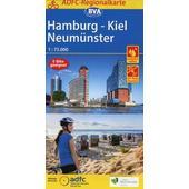 ADFC-Regionalkarte Hamburg/Neumünster/Kiel 1:75.000, reiß- und wetterfest, mit GPS-Tracks-Download  - Fahrradkarte