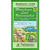 MONSCHAUER LAND - RURSEENGEBIET 1 : 25 000  - Wanderkarte