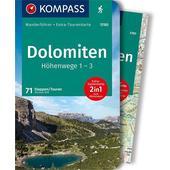KOMPASS WANDERFÜHRER DOLOMITEN HÖHENWEG 1 BIS 3  -