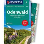 ODENWALD MIT KARTE  - Wanderführer