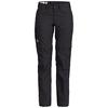 Fjällräven KARLA ZIP-OFF TROUSERS W Frauen - Trekkinghose - DARK GREY
