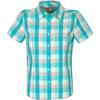 The North Face S/S BOULDER PENELOPE WOVEN Frauen - Outdoor Bluse - BEACH GLASS GREEN PLAID