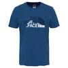 The North Face S/S MOUNTAIN LINE TEE Männer - T-Shirt - SHADY BLUE