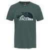 The North Face S/S MOUNTAIN LINE TEE Männer - T-Shirt - THYME