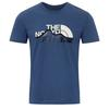 The North Face S/S MOUNTAIN LINE TEE Männer - T-Shirt - SHADY BLUE/VINTAGE WHITE
