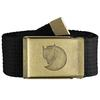 Fjällräven CANVAS BRASS BELT 4 CM Unisex - Gürtel - BLACK