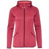 FRILUFTS ARICA HOODED FLEECE JACKET Frauen - Fleecejacke - RED BUD