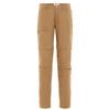 Fjällräven HIGH COAST ZIP-OFF TROUSERS W Frauen - Trekkinghose - DARK SAND
