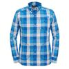 bomber blue plaid