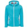 CMP JACKET FIX HOOD STRETCH FLEECE Kinder - Fleecejacke - CURACAO MEL ANICE CORALLO