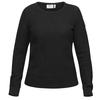Fjällräven ÖVIK STRUCTURE SWEATER W Frauen - Wollpullover - DARK GREY