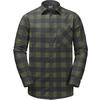 Jack Wolfskin RED RIVER SHIRT Männer - Outdoor Hemd - WOODLAND GREEN CHECKS