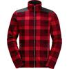 Jack Wolfskin CABOT CHECK Männer - Fleecejacke - RUBY RED ALLOVER