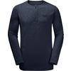 Jack Wolfskin WINTER TRAVEL HENLEY Männer - Funktionsshirt - NIGHT BLUE