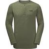 Jack Wolfskin WINTER TRAVEL HENLEY Männer - Funktionsshirt - WOODLAND GREEN