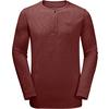 Jack Wolfskin WINTER TRAVEL HENLEY Männer - Funktionsshirt - REDWOOD