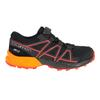 Salomon SPEEDCROSS CSWP K Kinder - Trailrunningschuhe - BLACK/TANGELO/CHERRY TOMATO