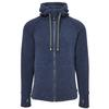 VARG MALO WOOL JERSEY WITH ZIP Männer - Wolljacke - JEANS BLUE