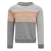 VARG FJÄLLBACKA JERSEY COTTON Männer - Sweatshirt - GREY WITH ORANGE
