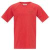 Columbia SILVER RIDGE II S/S TEE Kinder - Funktionsshirt - BRIGHT RED HEATHER