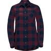 Jack Wolfskin HOLMSTAD SHIRT Frauen - Outdoor Bluse - BURGUNDY CHECKS