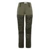 Fjällräven KEB TROUSERS W SHORT Frauen - Trekkinghose - DEEP FOREST-LAUREL GREEN