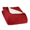 FRILUFTS TEDDY BLANKET - Decke - RED OCHRE/WHITE