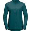 Jack Wolfskin VICTORIA ROLL-UP SHIRT W Frauen - Outdoor Bluse - TEAL GREEN