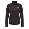 The North Face W 100 GLACIER 1/4 ZIP - EU Frauen - Fleecejacke - TNF BLACK