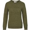 Fjällräven ÖVIK STRUCTURE SWEATER W Frauen - Wollpullover - LAUREL GREEN-GREEN