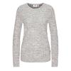 Fjällräven ÖVIK STRUCTURE SWEATER W Frauen - Wollpullover - EGG SHELL-GREY