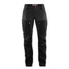 Fjällräven KEB TROUSERS CURVED W SHORT Frauen - Trekkinghose - BLACK-STONE GREY