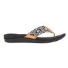 Reef ORTHO-BOUNCE WOVEN Frauen - Outdoor Sandalen - BLACK/WHITE