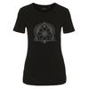 FRILUFTS BLACK PRINTED T-SHIRT Frauen - Funktionsshirt - BLACK
