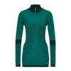 Smartwool WOMEN' S THERMAL ZIP T Frauen - Funktionsshirt - PEACOCK