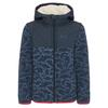 Jack Wolfskin NORDIC HOODED JACKET Kinder - Fleecejacke - NIGHT BLUE ALL OVER