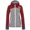 Ortovox FLEECE PLUS HOODY W Frauen - Fleecejacke - DARK BLOOD