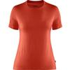 Fjällräven ABISKO WOOL SS W Frauen - Funktionsshirt - FLAME ORANGE